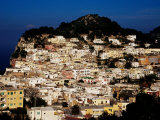 Pastel Coloured Houses on Island, Capri, Italy Photographic Print by Pershouse Craig