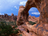 Looking Through an Arch in Arches National Monument, Utah, Arches National Park, USA Photographic Print by Mark Newman