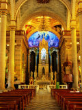 Interior of Cathedral, Mazatlan, Mexico Photographic Print by Richard Cummins