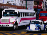 Public Buses and Taxis in Old Town, Acapulco, Mexico Photographic Print by Richard Cummins