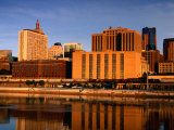 Mississippi River and City Skyline, St. Paul, United States of America Photographic Print by Richard Cummins