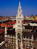 Overhead of Neo-Gothic Neues Rathaus (New Town Hall), Munich, Germany Photographic Print by Krzysztof Dydynski