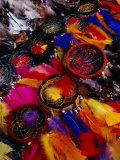 Dream Catchers for Sale at the Poncho Plaza Market, Otavalo, Ecuador Photographic Print by Richard I'Anson
