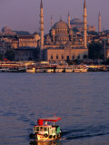 Boat on River, Istanbul, Turkey Photographic Print by Phil Weymouth