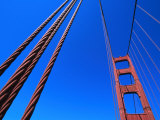 Detail of Golden Gate Bridge, San Francisco, USA Photographic Print by Holger Leue