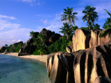 Eroded Granite Formations on Beach, Anse Source D'Argent, Seychelles Photographic Print by Ralph Lee Hopkins