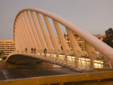 People Walking on Puente De Calatrava (Calatrava Bridge), Valencia, Spain Photographic Print by Greg Elms
