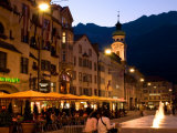 People Relaxing Along Maria Theresien Strasse, Innsbruck, Austria Photographic Print by Glenn Beanland