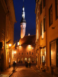 Town Hall in Distance, on Raekoja Plats, Tallinn, Estonia Photographic Print by Jonathan Smith