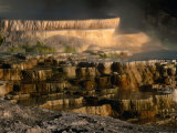 Minerva Spring at Mammoth Hot Springs, Yellowstone National Park, USA Photographic Print by Carol Polich