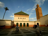 Courtyard of Sidi Bel Abbes Mosque, Marrakesh, Morocco Photographic Print by Doug McKinlay