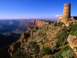 Watchtower at Desert View on Canyon's Southern Edge, Grand Canyon National Park, USA Fotografisk tryk af John Elk III