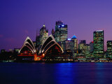 Opera House and City Skyline at Dusk, Sydney, Australia Photographic Print by Richard I'Anson
