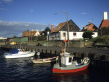 Docked Fishing Boats, Gudhjem, Denmark Photographic Print by Holger Leue