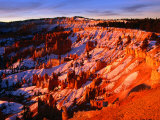 Sunset Over Canyon Slopes During Winter, Bryce Canyon National Park, USA Photographic Print by Carol Polich