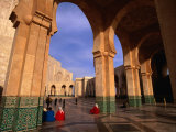People Visiting Hassan Ii Mosque, Casablanca, Morocco Photographic Print by Carol Polich