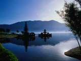 Ulun Danu Bratan Temple, Reflected in Lake Bratan, Early Morning, Indonesia Photographic Print by Richard I'Anson