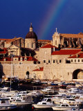 Rainbow Over Cathedral of the Assumption of the Virgin, Old Town and Harbour, Dubrovnik, Croatia Photographic Print by Richard I'Anson