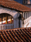 Ceramic Tiled Roofs and Colonial Arch, Taxco, Mexico Photographic Print by Philip Smith