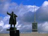 Lenin Statue at Finland Station, St. Petersburg, Russia Photographic Print by Jonathan Smith