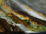 Detail of Water Overflowing from Midway Geyser Basin, Yellowstone National Park, USA Photographic Print by Carol Polich