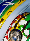 Detail of Decorated Vw Beetle, Haight District, San Francisco, United States of America Lámina fotográfica por Richard Cummins