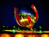 Floralis Generica Sculpture in Un Plaza, Recoleta, Buenos Aires, Argentina Photographic Print by Michael Taylor