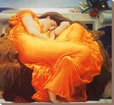 Flaming June Leinwand von Frederick Leighton