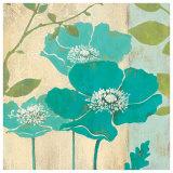 Modern Blue Poppy Print by Stefania Ferri