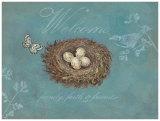 Willkommen – Ananas mit Vers Kunstdrucke von Arnie Fisk