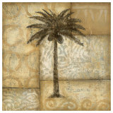 Golden Palm I Prints by  DeRosier