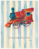 Locomotive Poster by Catherine Richards