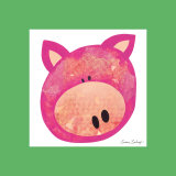 Pink Pig Prints by Susan Zulauf