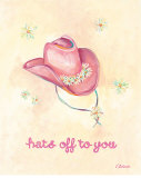 Little Pink Hat Posters by Catherine Richards