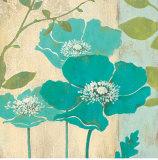 Papoula azul moderna Poster por Stefania Ferri