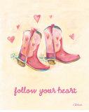 Little Pink Boots Posters by Catherine Richards