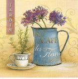 Cafe des Fleurs Affiches par Angela Staehling