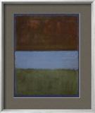 ナンバー 61 (茶、青、青に茶) 1953年 (No. 61) アート : マーク・ロスコ