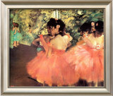 Ballerina in Red Posters by Edgar Degas