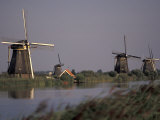 Kinderdijk Windmills, Netherlands Photographic Print by David Barnes