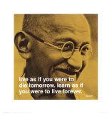 Gandhi: Lev og lær, på engelsk Plakater