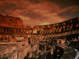Sunset on the Ruins of the Coliseum, Rome, Italy Photographic Print by Bill Bachmann
