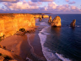 Morning at 12 Apostles, Great Ocean Road, Port Campbell National Park, Victoria, Australia Fotografie-Druck von Howie Garber