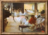 Ecole de Danse (detail) Prints by Edgar Degas