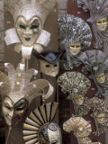 Carnivale Masks, Venice, Italy Photographic Print by Bill Bachmann