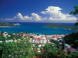View from Paradise Point, Charlotte Amalie, St. Thomas, Caribbean Fotodruck von Robin Hill