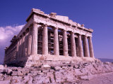 The Parthenon on the Acropolis, Ancient Greek Architecture, Athens, Greece Photographic Print by Bill Bachmann