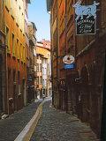 Charles Sleicher - Narrow Street in Lyon (Vieux Lyon), France Fotografická reprodukce