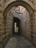 Arch of Jerusalem Stone and Narrow Lane, Israel Photographic Print by Jerry Ginsberg