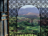 View through Ornate Iron Grille (Moucharabieh), Morocco Photographic Print by John & Lisa Merrill